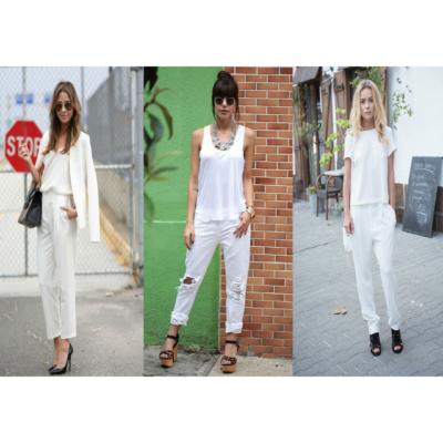 Branco calças 4