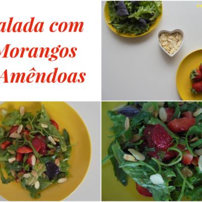salada com morangos e amendoas